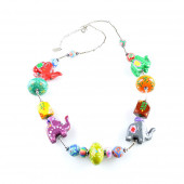 Collier Eléphants multicolore
