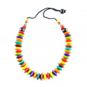 Collier Soucoupes unies multicolore