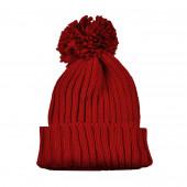 Bonnet pompon, Rouge