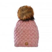 Bonnet rose, pompon Racoon