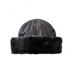 Toque simili cuir, anthracite