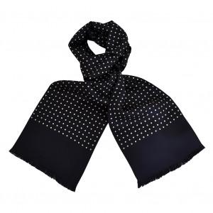 7809ef201c61 Foulard Carven bleu à pois, foulard en soie homme Carven, Boutique ...