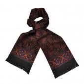 Foulard Carven noir cachemire XL