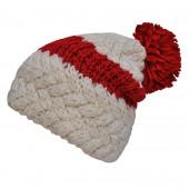 Bonnet bicolore rouge