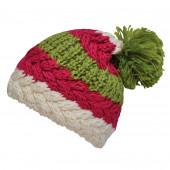 Bonnet tricolore fushia