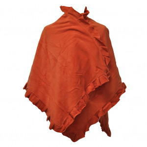 Poncho cape Butterfly, rust