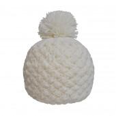 Bonnet tricot uni écru
