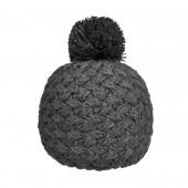 Bonnet tricot uni gris