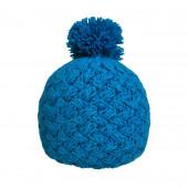 Bonnet tricot uni bleu