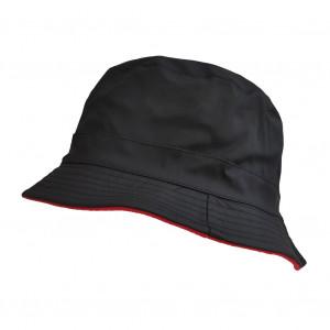 Bob de pluie noir / rouge
