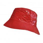 Chapeau imperméable rouge