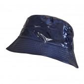 Chapeau imperméable bleu