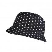 Chapeau imperméable noir à pois