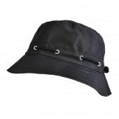 Chapeau de pluie noir (Polaire)