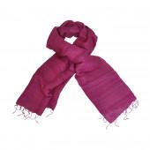 Foulard en soie sauvage Prune