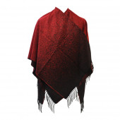 Poncho Sahara rouge