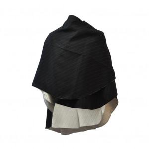 Poncho Sable noir arrondi