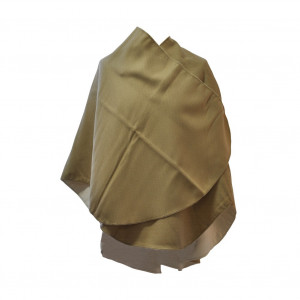 Poncho Sable beige arrondi
