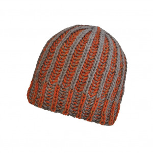Bonnet torsade Gris/Orange