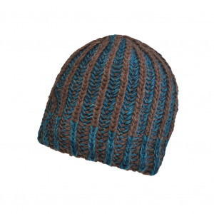 Bonnet torsade Marron/Bleu