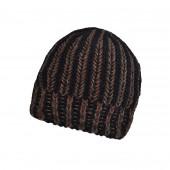 Bonnet torsade Noir/Marron