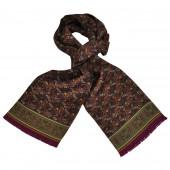 Foulard Carven Dandy Prune Cachemire