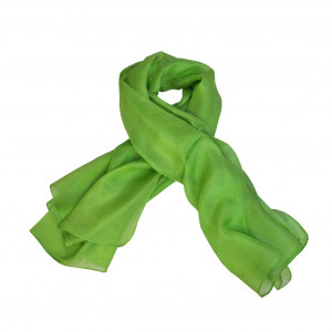 Foulard carré en soie, Vert