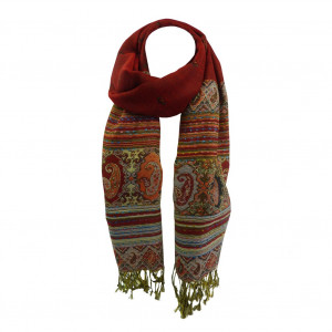 Echarpe XL Boshay motifs Cachemire