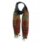 Echarpe XL Jungney motifs Cachemire