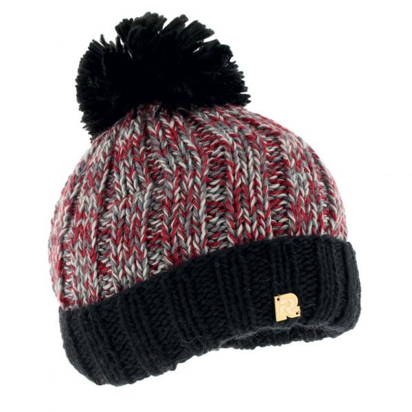 Bonnet grosse maille noir vente de bonnets en laine toutacoo - Laine grosse maille ...