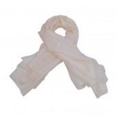 Foulard carré en soie, Blanc cassé