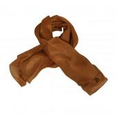 Foulard carré en soie, Marron