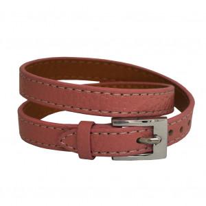 Bracelet en cuir Rose