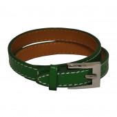 Bracelet en cuir vert