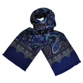 Foulard Carven Bleu Paisley