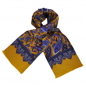 Foulard Carven Moutarde Paisley