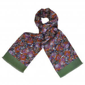 Foulard Carven Seventies Orange