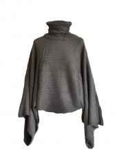 Poncho court ficelle