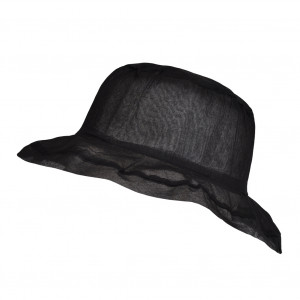 Chapeau Organza, Noir