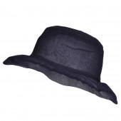 Chapeau Organza, Bleu Marine