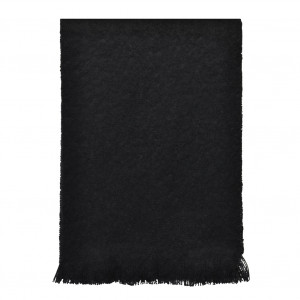 Echarpe noire en Mohair