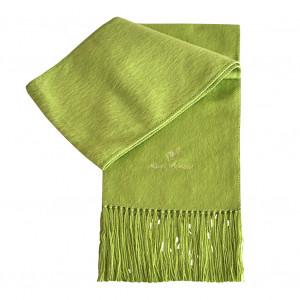 Echarpe en alpaga vert anis