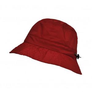 Bob imperméable rouge réglable et repliable dans sa poche intégrée
