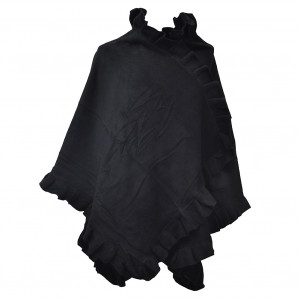 Poncho cape Butterfly, noir