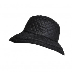 Chapeau matelassé, Noir