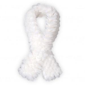 Echarpe fourrure Salama blanche