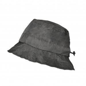Bob imperméable gris foncé réglable et repliable dans sa poche intégrée