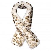 Echarpe fourrure Yeva léopard