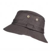 Chapeau de pluie en coton huilé marron taille 58