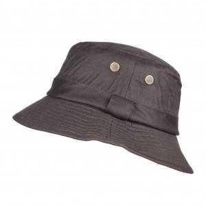 Chapeau de pluie en coton huilé marron taille 56